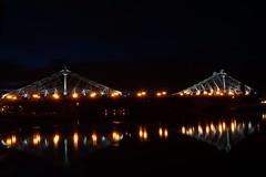 Blaues Wunder Dresden (Philip Klug) Tags: bridge night river dresden nacht steel sony saxony sachsen alpha brcke fluss elbe 58 stahl langzeitbelichtung blaues schillerplatz wunder krnerplatz