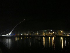 Dublin At Night - 01.08.2014 (Mel Byrne) Tags: street city ireland light sky urban dublin color colour building water beautiful beauty architecture night contrast river dark dock friend theater pretty theatre pavement path centre center tourist quay reflect national convention after flickrandroidapp:filter=none