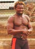 Avabeach 083 (danimaniacs) Tags: shirtless man black hot sexy guy beach beard exercise muscle santamonica hunk shorts bulge mansolo avabeach