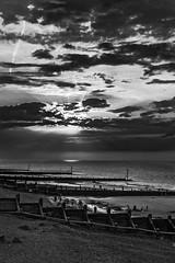 Sunset (+Pattycake+) Tags: uk sunset blackandwhite bw mono norfolk sheringham eastanglia eastcoast northnorfolk ef40mmf28stm