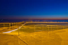 sunrise at Collaroy Baths (loobyloo55) Tags: pink blue sea water pool yellow sunrise sydney australia baths collaroy