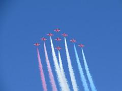 Red Arrows Over Newcastle (bancc2) Tags: redarrows newcastleairshow2014