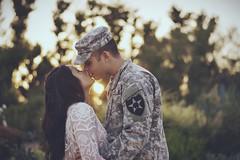 Adam and Denice Lee (hellodayne) Tags: portrait sun love portraits army engagement kiss couple marriage armywife vsco