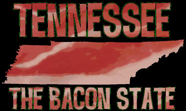 Things for Sale: T-Shirt: TN Bacon State