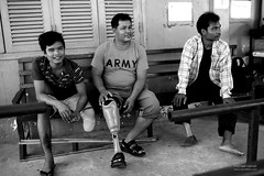 amputee_bw_09webflickr (carrollfoto) Tags: cambodia amputee rehabilitationcentre amputees landminevictims artificiallimbs prostheticlimbs