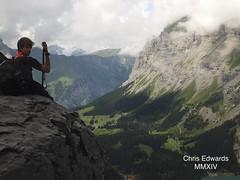 Climbing up the Doldenhorn (Chris Edwards 1999) Tags: chris lake mountains photography switzerland suisse 1st swiss group 4th scout kandersteg matterhorn edwards explorers gibraltar adelboden oeschinensee doldenhorn oeschinen mmxiv
