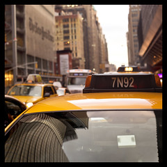 Taxi! (Playing_with_light) Tags: new york nyc sky newyork cars apple window car yellow buildings reflections big nikon manhattan cab taxi transport number dash transportation d800