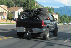 Tired '90s Z71 (Eyellgeteven) Tags: black classic chevrolet truck vintage gm 4x4 wheels pickup pickuptruck dent tires chevy vehicle load gmc 1990s dents jalopy loaded beatup junker beater madeinusa americanmade fourwheeldrive chev dented generalmotors z71 worktruck farmtruck payload k2500 generalmotorscorporation 34ton extendedcab eyellgeteven