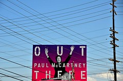 Paul's Out (Pedestrian Photographer) Tags: sky lake lines silver out advertising poster paul la los wire photographer power angeles stadium walk telephone ad pedestrian line billboard september pole wires there dodger sept mccartney ribbet 2014 outthere dsc7824 dsc7824b