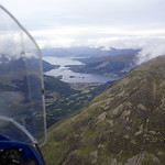 The end of the Aonach Eagach and Loch Leven - the western seaboard - ahead