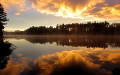 Sunrise (yooperann) Tags: camp mist lake sunrise bass michigan september upper peninsula gwinn