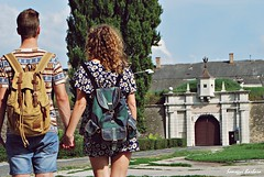 (somogyibarbara) Tags: trip boy wild summer sky woman man castle love boyfriend monument girl vintage girlfriend europe hungary exploring young free atmosphere tourist adventure relationship backpacking backpack romantic slovakia lovely fortress bunk barrack komrom komarno