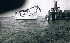 'Aldebaran' (1947 - ) at launch in Tuncurry in mid 1947 (Great Lakes Manning River Shipping NSW) Tags: nsw tugboat tug woodenboat fishingboat tuncurry midnorthcoast greatlakesnsw historicgreatlakes capehawkeharbour ernestwrightsyt glmrsnsw nicholsonfamilycollection photo6355913885 glmrsnswfishingboats aldebaranewbst wrightshipst forster4hmbsf forsteriv