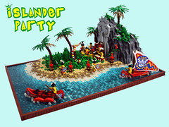 Islander Party (Disco86) Tags: beach water island iron lego pirates palm shore builder islanders
