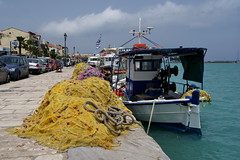 Resting nets (In Explore) (Steenjep) Tags: holiday water boat harbour greece ferie zakynthos grækenland