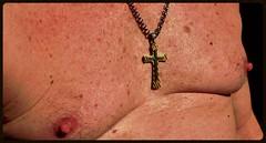 MM chest cross 8 31 2014 (Monte Mendoza) Tags: shirtless man guy nipple cross dude uomo hombre homme noshirt pecho sanschemise sincamisa