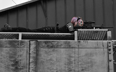 Girl with a Gun (Luv Duck - Thanks for 15M Views!) Tags: cute akira pinkhair girlswithguns badassgirls railroadtotheapocalypse