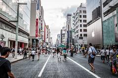 Ginza (Joshua Davenport) Tags: travel fashion japan shopping tokyo ginza consumerism touristattraction crowded shopper shoppingarea tokyostreet