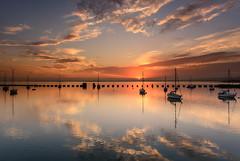Langstone Sundown (Explore 20-9-2014) (Sunset Snapper) Tags: uk sunset clouds reflections boats nikon haylingisland hampshire calm september filter lee nd yachts grad southcoast tranquil d800 2470mm langstoneharbour risingtide langstonesundown seascapewaterscape2014sunsetsnapper