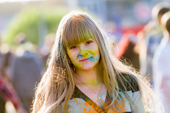 Holi Festival of Colours Nizhny Novgorod Russia 12.06.2015 (pustotamira) Tags: portrait people girl field festival colours faces emotion russia fest holi generation depth nizhnynovgorod