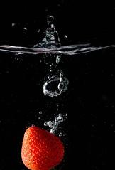 Fruit splash. (padge83) Tags: nikon d5300 strawberry splash water macro fruit westyorkshire