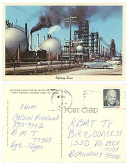 Refinery Scene (SMU Central University Libraries) Tags: industrialsites petroleumrefineries oilstoragetanks petroleum