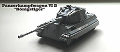 Panzerkampfwagen VI Ausf. B - Knigstiger - Sd.Kfz. 182 (-PanzerGrenadier1-) Tags: lego ww2 tanks afv sdkfz 182 king tiger panzer koenigstiger german vi b panzerkampfwagen heavy tank world war two