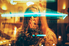 Absolution (Louis Dazy) Tags: 35mm analog film grain double exposure neon girl dream