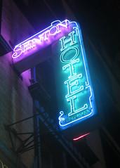 Senton Hotel (edenpictures) Tags: manhattan newyorkcity nyc night afterdark neonsign west27thstreet flatirondistrict