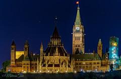 The Hill, Ottawa, Canada (MarcusTeee) Tags: ontario ottawa parliament government night sky blue