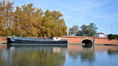 Ponts Jumeaux (frogizlou) Tags: toulouse automne fall autumn france canal brienne midi ponts jumeaux pniche reflets