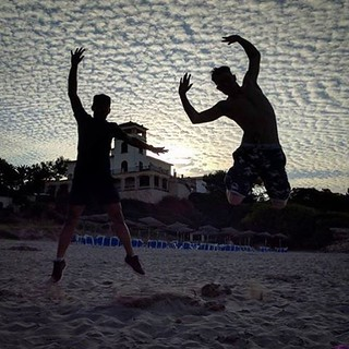 #silhouette #Beach #spain #palmaMallorca #pika #pikachu⚡#jump  #sky #clouds #cloudporn #texture