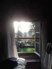 Window view  B&B La Fougeraie, Malvires (Hetwie) Tags: folgoux malvieres la bb bblafougeraie window venster uitzicht view raam bedandbreakfast chateau castle france frankrijk windowview romantic fairytale sprookje hotel kamer room bedroom bedroomwindow