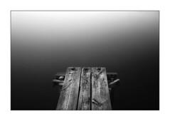 Towards emptiness (Ingrid Ugussi Vukman) Tags: pier emptiness stillness calm peaceful blackwhite sea croatia adriaticsea calmness