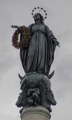 Colonna dell'Immacolata (noname_clark) Tags: italy rome vacation trip honeymoon colonnadell39immacolata statue virginmary