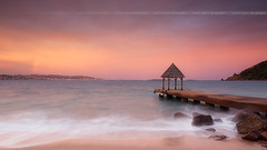 The beauty before the darkness .... (Yannick Lefevre) Tags: europe france alpesmaritimes frenchriviera cotedazur thoulesurmer pier ponton marcopolo restaurant sunset rainbow pink landscape seascape beach shore rocks cannes lerinsisland islands pointedelaiguille capdantibes juanlespins bay panorama nikon d810 raw nef lightroomcc photoshopcc nikkor1635mmf4 tripod gitzo leefilters 09gndsoft 06gndsoft