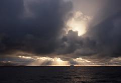 Sun rays and Ailsa Craig seen from south beach Troon (cmax211) Tags: ailsa craig clyde troon ayrshire scotland sea paddys milestone