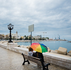 Nota di colore (nicokap) Tags: bari lungomare ombrello pioggia street