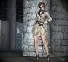 ~243~ Trench Coat Angel (Ana ~ Fashion Graffiti Blog) Tags: secondlife fashion slink laq 7deadlys{k}ins lostfound truthhair ikon monalisa hillyhaalan on9 avaway theoak zibska shinyshabby eternaldreamsposes