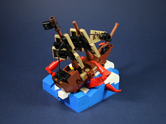 Sea monster attack-2 (LEGO 7) Tags: sea monster attack ship lego