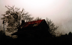 House of the Rising Sun (Doug NC) Tags: archives house oldhouse silhouette texture tinroof