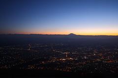At the top of Mount Mashuk (Sergey Kustov) Tags: dusk sunset mashuk elbrus beshtau mountain ridge caucasus panorama view pyatigorsk russia