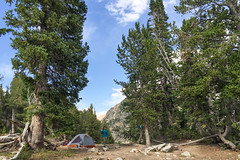 Our South Fork Cascade Campsite (GlobalGoebel) Tags: alta wyoming unitedstates us iphone iphone6 grand teton national park camp campsite backcountry tent rei quarterdome south fork cascade canyon backpacking tetoncresttrail
