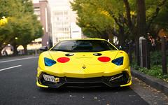Pikachu. (Alex Penfold) Tags: lamborghini 50th aventador anniversario supercars supercar super car cars autos alex penfold 2016 tokyo pikachu