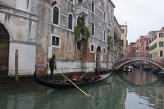 Venice Gondolier (My Italian Sketchbook) Tags: venice italy outdoor landscape venezia italia water canal gondolier gondola gondoliere