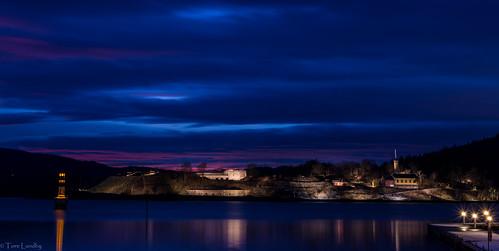 Solnedgang i Drøbaksund - Oscarsborg Festning