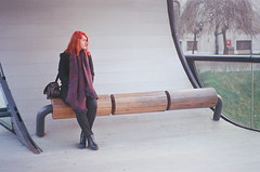 Festina lente (Franka L.) Tags: sarajevo bosnia herzegovina festina lente bridge film photography 35 mm pentax k1000 redhead dawn