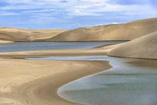Sand dunes and pools at Lençóis Maranhenses. Maranhão, Brasil (see related photos in my Brasil Album)