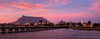 Woodbridge Island Sunrise Panorama (Panorama Paul) Tags: paulbruinsphotography wwwpaulbruinscoza southafrica westerncape capetown tablemountain woodbridgeisland milnerton lighthouse sunrise pinkclouds carpobrotusdeliciosus nikond800 nikkorlenses nikfilters panorama