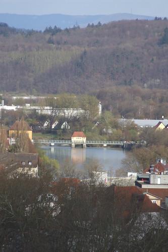 Dam over Neckar River, 08.04.2012.